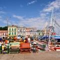 Porto dos pescadores e casarios da rua Marques do Pombal, Belém-PA